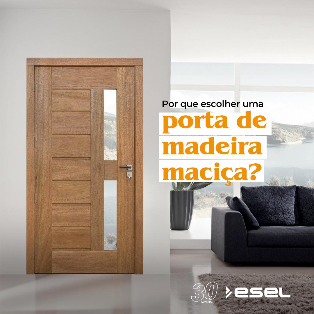 Por que escolher uma porta de madeira maciça?